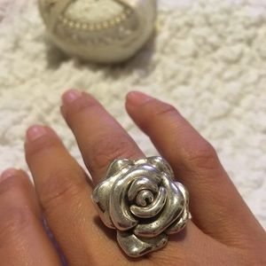 🌹 Sterling Silver Rose Ring